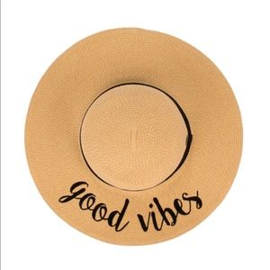 Good Vibes Only Beach Hat